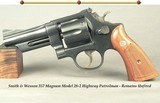 """SMITH & WESSON 357 MAGNUM MODEL 28-2 HIGHWAY PATROLMAN- REMAINS UNFIRED- MADE in 1968- PINNED 4"""" BARREL- ONE FAMILY GUN- 99.5% BLUE"""