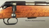 """MAUSER 22 LR MOD 201 LUXUS SPORTING BOLT RIFLE- 1992- 21 1/2"""" Bbl.- NICE ADJUSTABLE TRIGGER- STRONG REPUTATION for ACCURACY- GROOVED + DRILLED - 2 of 6"""