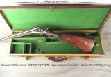 """LANCASTER 450/400 3 1/4"""" BPE- DELUXE GRADE- SUPERB ORIG. COND.- FULLY ENGRAVED- DELUXE WOOD- ACCURATE- MADE 1884 for NAWAB of BAHAWALPUR- NICE"""