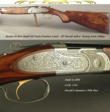 """BERETTA 28 BORE 687 EXTRA PREMIUM GRADE- SIDEPLATES with FULL ENGRAVING- EXC. WOOD- 28"""" Bbls.- 6 FACTORY CHOKES- OVERALL 99.5%- MADE 2001- 14 1/2"""