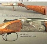 """BERETTA 1958 ASEL 20- ABERCROMBIE & FITCH IMPORT- 28"""" VENT RIB Bbls.- ONLY 5 Lbs. 12 Oz.- ORIG. BORES & CHOKES- 96% SCROLL & FLORAL ENGRAVING"""