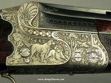 """KRIEGHOFF 20 BORE 1928 SUHL BEST GRADE O/U- 99% ENGRAVING w/ GAME SCENES- 30"""" V R Bbls.- 100% ORIG. 1928 FINISH- BEST 300 SERIES ACTION-EXC. BORE - 3 of 9"""