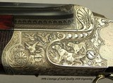 """KRIEGHOFF 20 BORE 1928 SUHL BEST GRADE O/U- 99% ENGRAVING w/ GAME SCENES- 30"""" V R Bbls.- 100% ORIG. 1928 FINISH- BEST 300 SERIES ACTION-EXC. BORE - 2 of 9"""