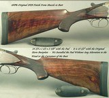 """KRIEGHOFF 20 BORE 1928 SUHL BEST GRADE O/U- 99% ENGRAVING w/ GAME SCENES- 30"""" V R Bbls.- 100% ORIG. 1928 FINISH- BEST 300 SERIES ACTION-EXC. BORE - 7 of 9"""