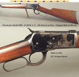 """WINCHESTER 1892- 25-20- MADE 1915- THE BORE LIKE NEW- ORIG. from BUTT to MUZZLE- 24"""" OCTAGON Bbl.- 95% ORIG. Bbl. BLUE- WOOD 92%- SCREWS 95% - 1 of 5"""
