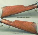 """WINCHESTER 1892- 25-20- MADE 1915- THE BORE LIKE NEW- ORIG. from BUTT to MUZZLE- 24"""" OCTAGON Bbl.- 95% ORIG. Bbl. BLUE- WOOD 92%- SCREWS 95% - 4 of 5"""