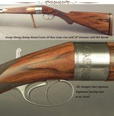 HOENIG 20 BORE ROTARY ROUND ACTION O/U- TOTAL SIMPLICITY, DURABILITY, STRENGTH & FUNCTION- TOP DRAWER HOENIG WORKMANSHIP & CRAFTSMANSHIP- REALLY NICE - 1 of 9