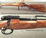 DALE GOENS- 7mm REM. MAG.- PRE-64 MODEL 70 ACTION- 1/2 OCTAGON 1/2 ROUND Bbl.- INTEGRAL FULL LENGTH RIB- GOENS CLASSIC STOCK- OVERALL 97%- SOLID - 1 of 4