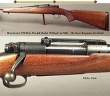 WINCHESTER 270 WIN. MOD 70 PRE-64- 1948- OVERALL 80% FINISH METAL & WOOD- BORE is EXC.- SOLID INSIDE & OUT- VERY HONEST HUNTING RIFLE- IT WILL HUNT