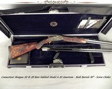 """CSMC 20 & 28 BORE A-10 AMERICAN SIDELOCK- ATTRACTIVE PRICE- BOTH Bbls. 30""""- OVERALL 99% COND.- ROSE & SCROLL MODEL- EXC. WOOD- DELUXE CASE- 6-6"""