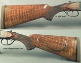 """CHAPUIS 450/400 3"""" N. E.- NEW- MODEL BROUSSE- VERY NICE WOOD- 95% FLORAL ENGRAVING & GAME SCENE- REMOVABLE BLOCKS in RIB for SCOPE MOUNTS or RED - 4 of 5"""