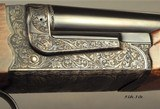 """CHAPUIS 450/400 3"""" N. E.- NEW- MODEL BROUSSE- VERY NICE WOOD- 95% FLORAL ENGRAVING & GAME SCENE- REMOVABLE BLOCKS in RIB for SCOPE MOUNTS or RED - 2 of 5"""