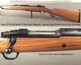 RUGER 375 H&H MOD 77 BIG GAME MAGNUM- DOUBLE SQUARE BRIDGE- 1/4 RIB w/ EXPRESS SIGHTS- FOREND TIEDOWN- Bbl. BAND SLING EYE- FACTORY SCOPE RINGS