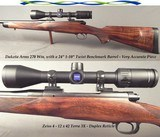 DAKOTA 270 WIN. CLASSIC GRADE with UPGRADES- VERY ACCURATE with a BENCHMARK 1 in 10 Bbl.- ZEISS 4 - 12 x 42 TERRA 3X- NICE BASTOGNE STOCK- 95% PIECE