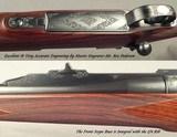 KIP WOOD 30-06 FULL CUSTOM 1909 ARGENTINE MAUSER- ENGRAVED by MASTER REX PEDERSEN- GREAT CRAFTSMANSHIP & TOTAL DETAIL- THIS is NICE STUFF- 1/4 RIB - 4 of 6
