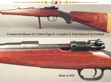 """MAUSER 9.3 x 62 COMMERCIAL OBERNDORF- TYPE B- COMPLETE TURNBULL REFINISH- 24"""" Bbl.- BORE is EXC.- 1931- OVERALL 98% COND.- EVERY # MATCHES- NICE"""