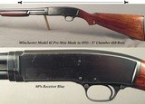 """WINCHESTER MOD 42 in 410- PRE-WAR MADE in 1935- 26"""" Bbl.- ORIG 3""""- FULL CHOKE- 5 Lbs. 13 Oz.- 14 x 1 1/2 x 2 3/8""""- EXC. BORE- SOLID"""