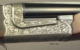 """CHAPUIS 450/400 3"""" N. E.- NEW- MODEL ELAN- VERY NICE WOOD- 95% FLORAL ENGRAVING & GAME SCENE- REMOVABLE BLOCKS in RIB for SCOPE MOUNTS or RED DOT - 2 of 5"""