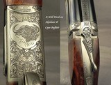 """CHAPUIS 450/400 3"""" N. E.- NEW- MODEL ELAN- VERY NICE WOOD- 95% FLORAL ENGRAVING & GAME SCENE- REMOVABLE BLOCKS in RIB for SCOPE MOUNTS or RED DOT - 3 of 5"""