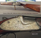"""FAMARS 12 BORE SIDELOCK O/U- MADE in 1971- 300 SERIES ACTION with DOUBLE UNDERLUGS & DOUBLE BITE- DOUBLE TRIGGERS- 27 3/4"""" V R Bbls.- 99% ENGRAVE"""