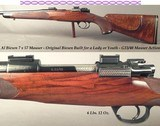 biesen 7x57originally built for a lady or youthcomplete custom with mauser actionbiesen classic stockwrap around fleur de lis checkering