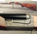 CHAPUIS 470 N. E.- NEW- MOD ELAN CLASSIC- VERY NICE WOOD- 95% FLORAL ENGRAVING & GAME SCENE- REMOVABLE BLOCKS in RIB for SCOPE MOUNTS or RED DOT - 1 of 4