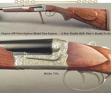 CHAPUIS 470 N. E.- NEW- MOD ELAN CLASSIC- VERY NICE WOOD- 95% FLORAL ENGRAVING & GAME SCENE- REMOVABLE BLOCKS in RIB for SCOPE MOUNTS or RED DOT