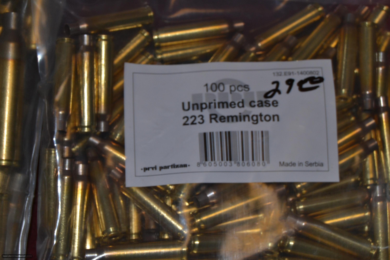 PRIVI PARTIZEN 223 REMINGTON BRASS NEW UNPRIMED for sale