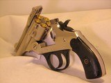 Iver Johnson, Nickel Plated Top Break, 38-S&W Carry Pistol with New Grips, Safety Automatic - 6 of 10