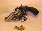 Iver Johnson, Nickel Plated Top Break, 38-S&W Carry Pistol with New Grips, Safety Automatic - 2 of 10