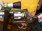 RARE SMITH WESSON M 629-1 8 3/8 NICKLE .44 MAG W/FACTORY SCOPE CUT & MOUNTS & ULTRA DOT SCOPE - 4 of 6