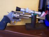 RARE SMITH WESSON M 629-1 8 3/8 NICKLE .44 MAG W/FACTORY SCOPE CUT & MOUNTS & ULTRA DOT SCOPE - 2 of 6