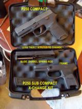 sig sauer p250 compact & sub compact x-change set mib - 1 of 7