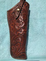 RARE KING RANCH SADDLERY FLORAL TOM THREEPERSONS STYLE HOLSTER