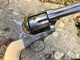 1873 Colt Single Action Army Revolver .45 1890 Nickel Ivory 4 3/4