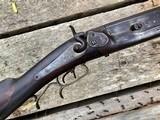 1885 Jacob Harder Lock Haven PA Over/Under Combination Rifle Shotgun RARE