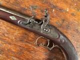 Massive American Left Hand Flintlock Gentleman's Horse Pistol .65 Cal Truitt Bros & Co.