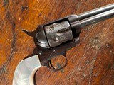 "1873 Colt Single Action Army .45 Revolver 4 3/4"" Nickel Pearl 1st Gen SAA Blackpowder Frame 1884"