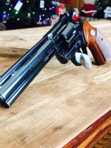 1979 Colt Python 357 Blue Finish 6 inch Barrel.