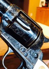 "John Adams Sr. Master Engraved Colt SAA .45 Colt with a 71/2 "" Barrel.- 12 of 26"
