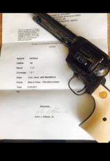 "John Adams Sr. Master Engraved Colt SAA .45 Colt with a 71/2 "" Barrel."