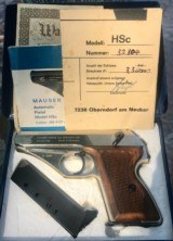 Mauser HSc 9mm Kurtz with RARE Nickel Finish