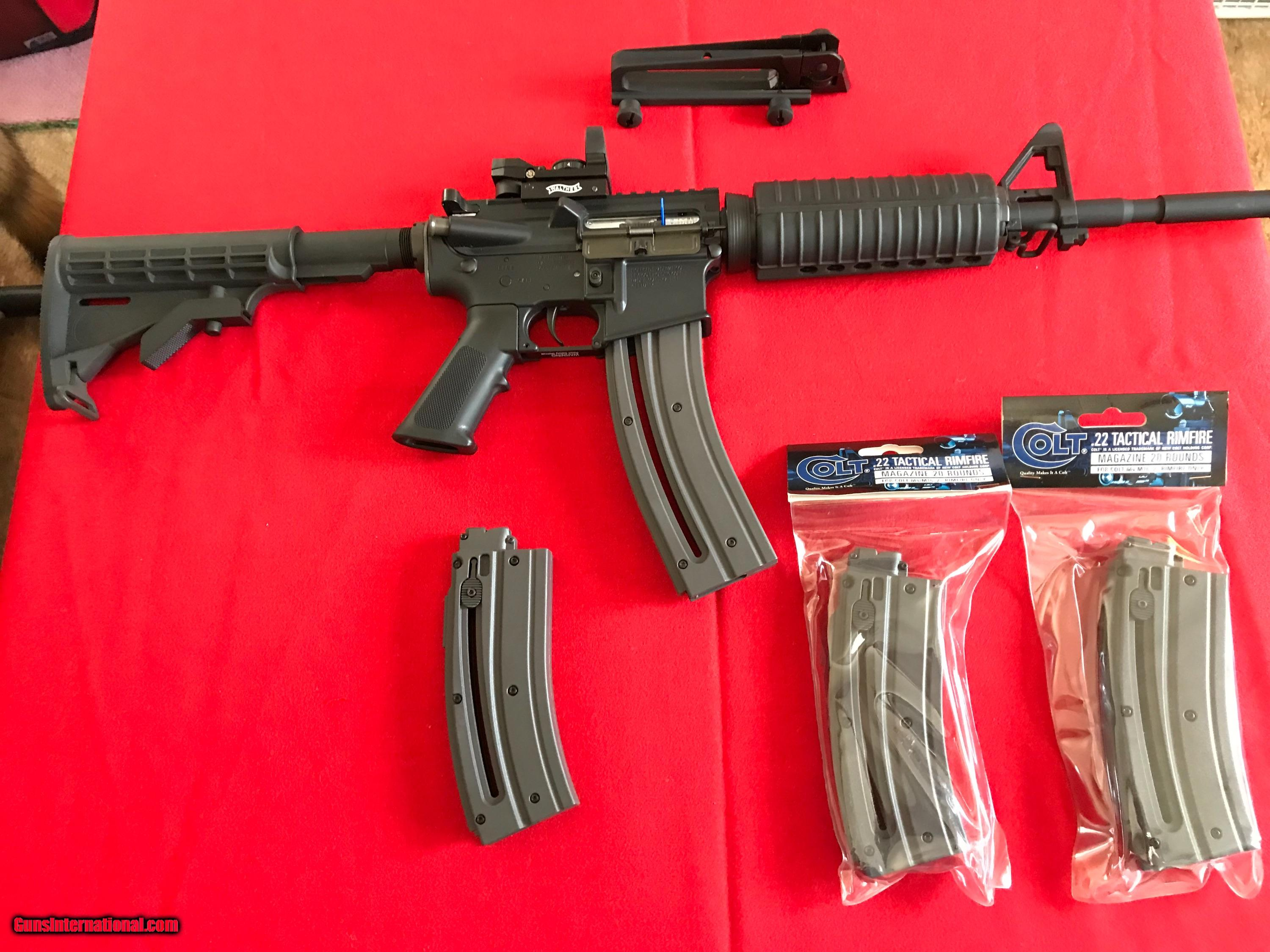 Walther/Colt M4 Carbine 22 Rimfire with Scope and Extra Magazines