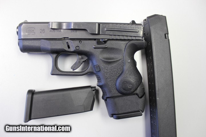 Glock Model 26 with Crimson Trace Laser, night sights and 3