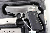 Walter PPK/S 380 Cal Stainless. With box and papers