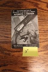 "Browning Belgium A-5 Manual. For Browning Belgium A-5, 12/20 ga 3"". Owners Manual"