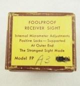 Williams Foolproof Receiver Sight FP A3 NIB - 6 of 6