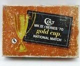 Colt MK IV Gold Cup National Match Box