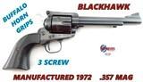 Ruger BlackHawk SA Revolver MFG 1972 .357 Mag.