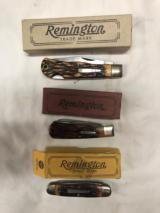 Remington Bullet Knifes. 3 knifes all in original baxes
